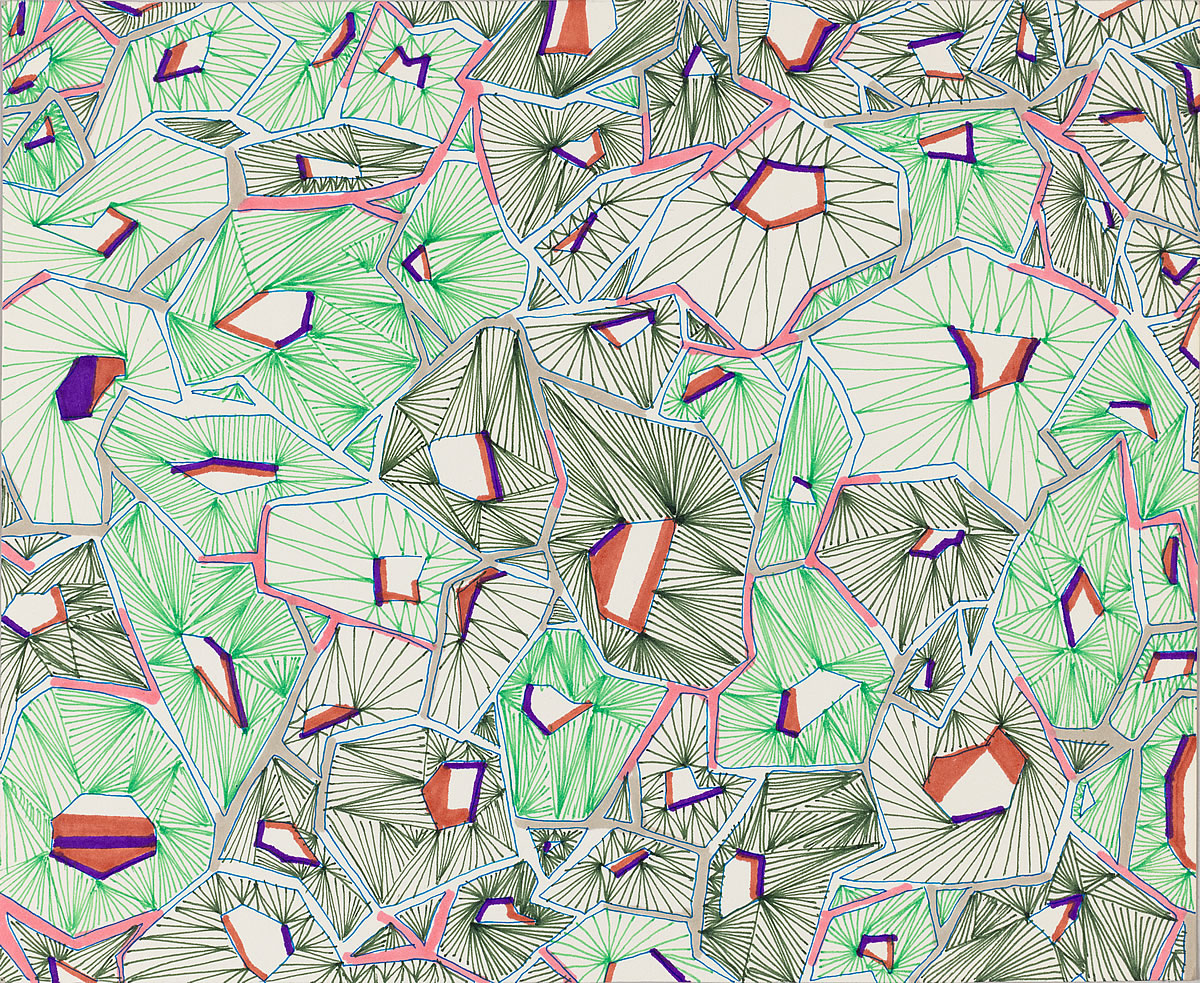 Untitled (26d_25), pen and marker on paper, 8 by 10 inches, 2016