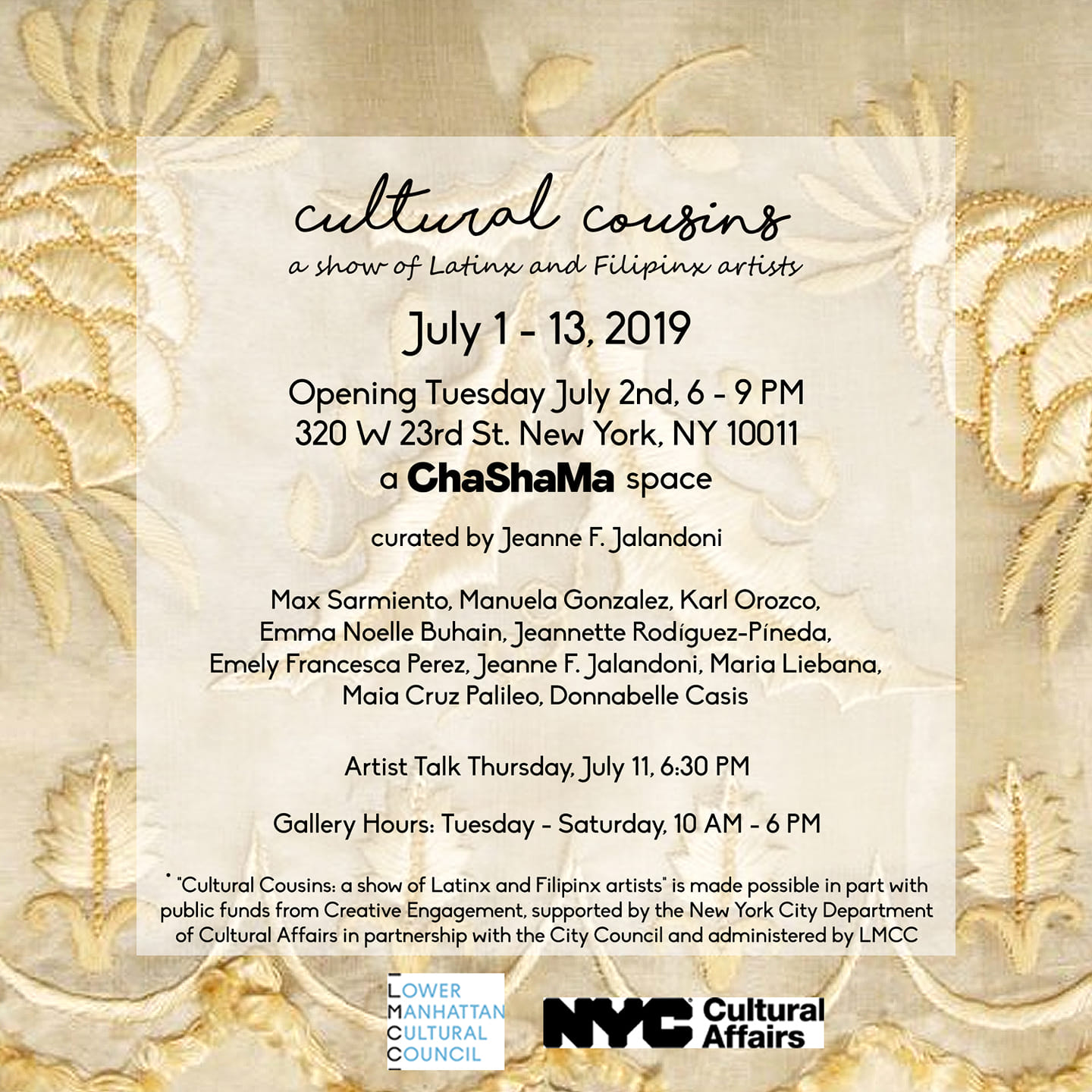 Cultural Cousins - a show of Latinx and Filipinx artists