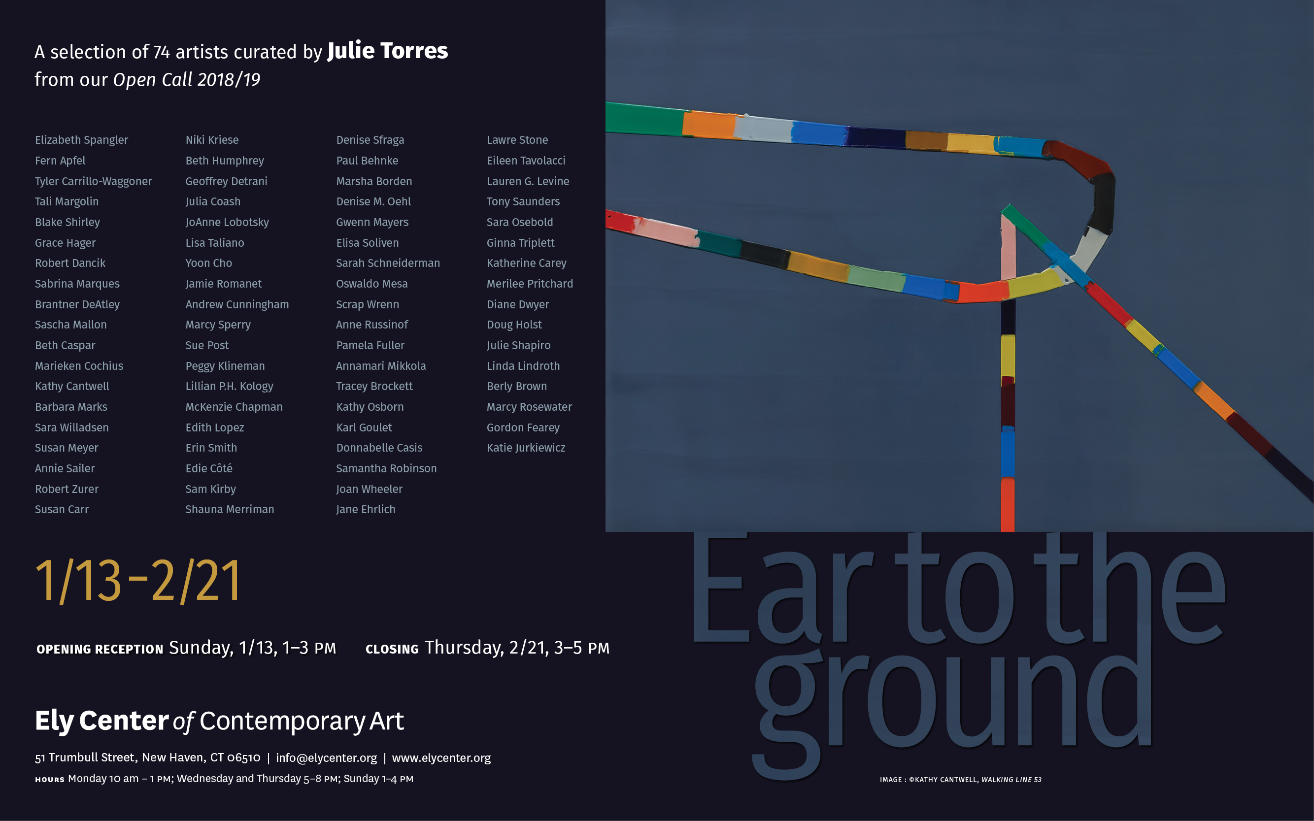 Ear to the Ground - Ely Center of Contemporary Art